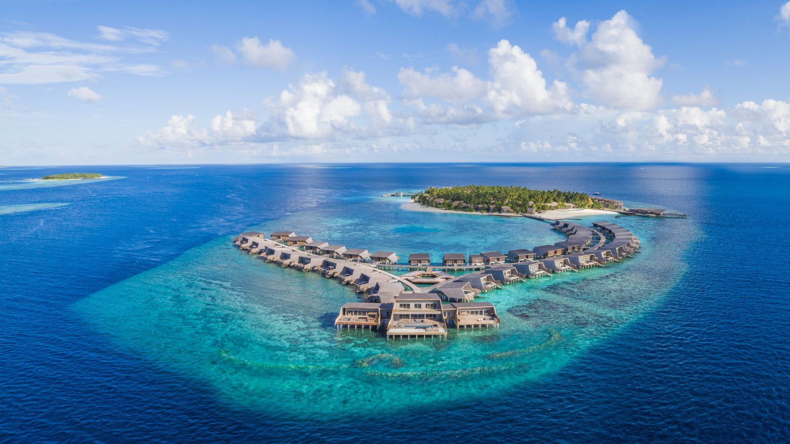 The St. Regis Maldives House Reef Aerial View