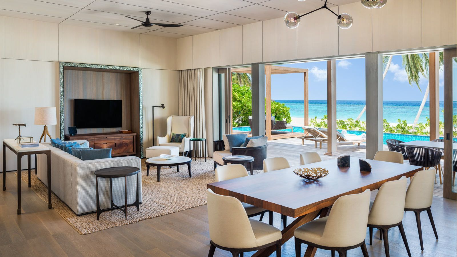 Two-Bedroom Beach Suite with Pool